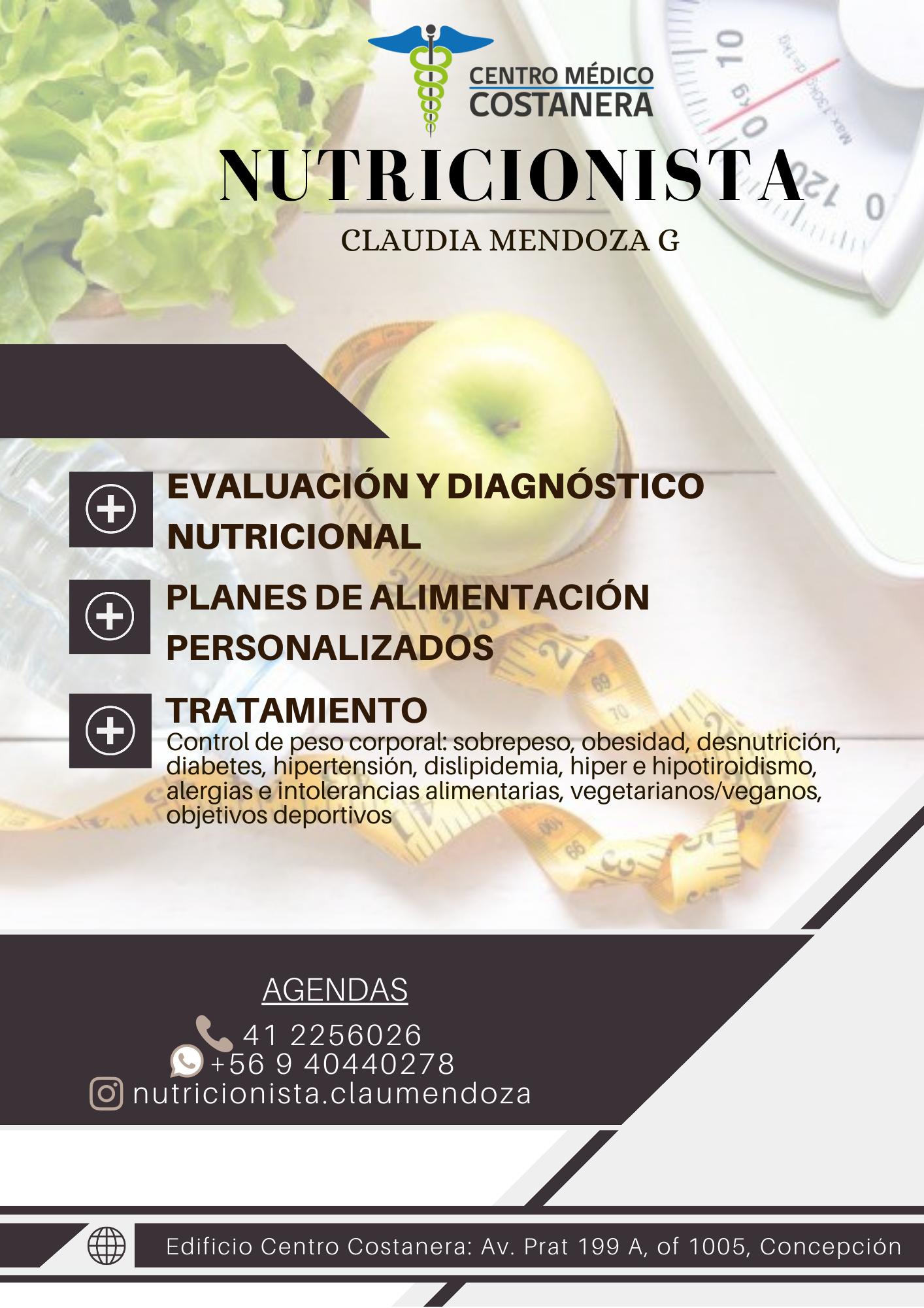 Claudia Mendoza Nutricionista